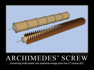 ARCHIMEDES' SCREW: Converting shaft power into potential energy since the 3rd century B.C.