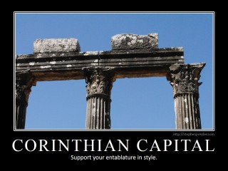 CORINTHIAN CAPITAL: Support your entablature in style.