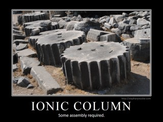 IONIC COLUMN: Some assembly required.