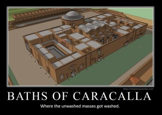 BATHS OF CARACAALLA: Where the unwashed masses got washed.