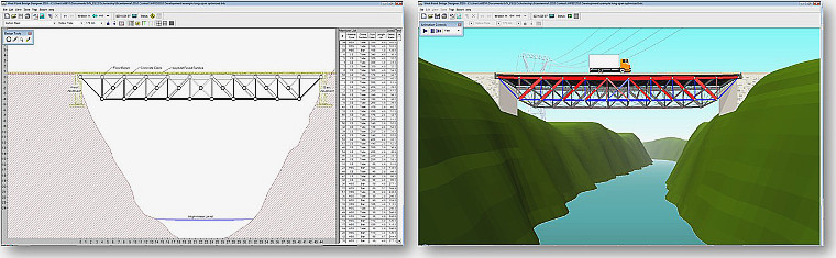 The West Point Bridge Designer software