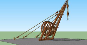 Roman Construction Crane